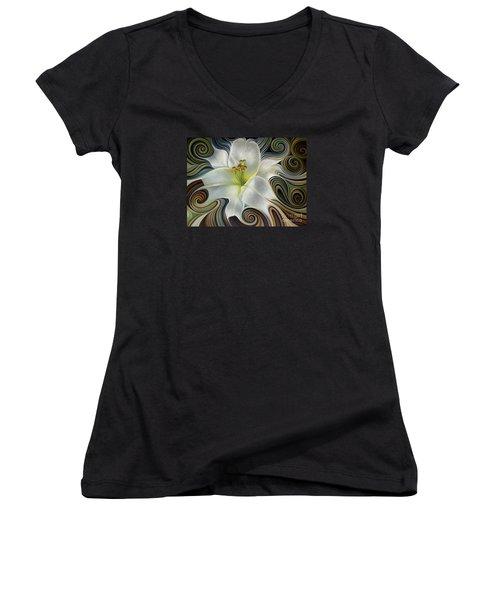 Lirio Dinamico Women's V-Neck T-Shirt