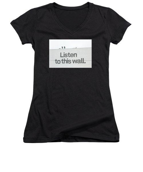 Listen Women's V-Neck T-Shirt