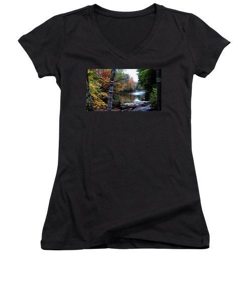 Little Androscoggin River Women's V-Neck T-Shirt