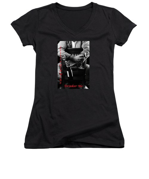 Women's V-Neck T-Shirt (Junior Cut) featuring the photograph Little Old Wine Drinker Me by Duncan Selby