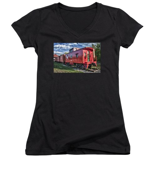 Little Red Caboose Women's V-Neck