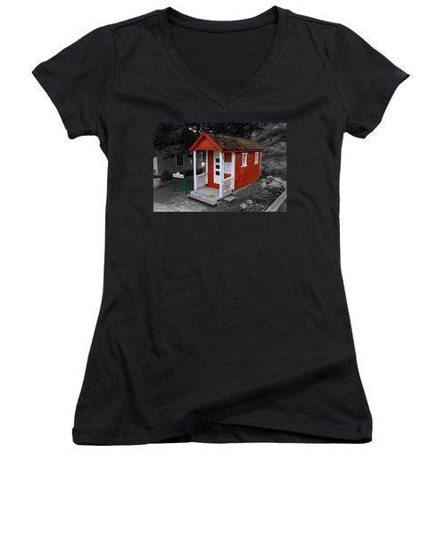 Little Red School House Women's V-Neck T-Shirt