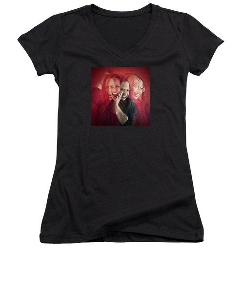 Livin On The Edge Women's V-Neck T-Shirt