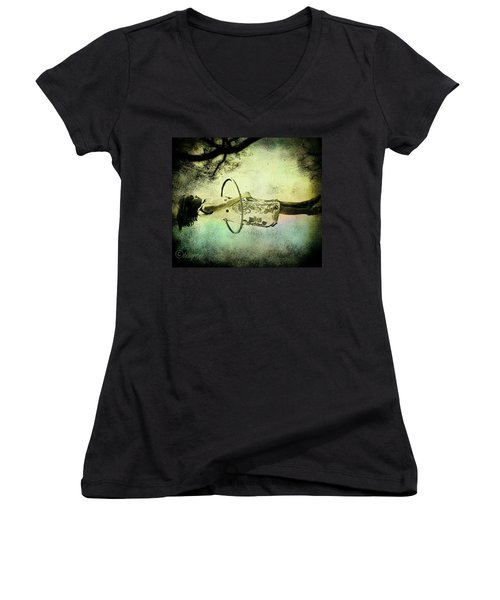 Living In The Fear Women's V-Neck