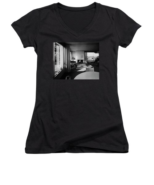 Living Room In Mr. And Mrs. Walter Gropius' House Women's V-Neck
