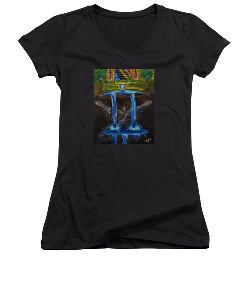 Living Water Women's V-Neck T-Shirt (Junior Cut) by Cassie Sears