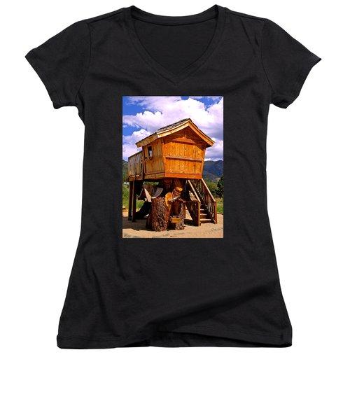 Log Cabin Penthouse Women's V-Neck (Athletic Fit)