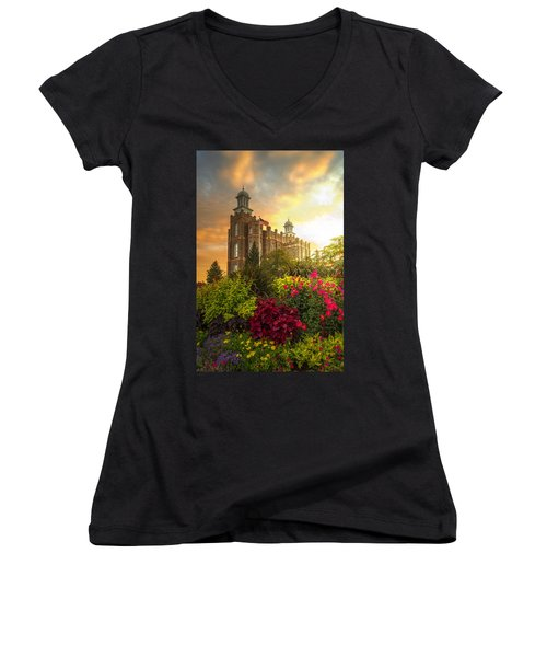 Logan Temple Garden Women's V-Neck