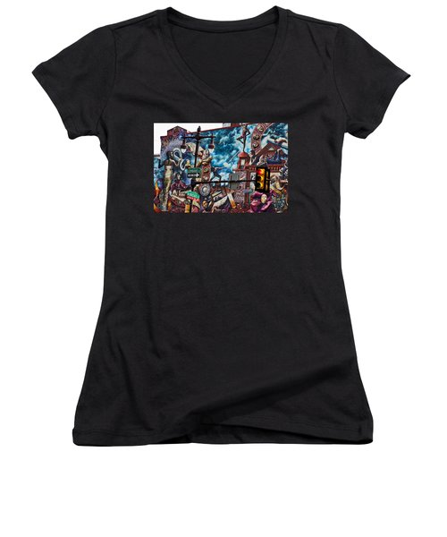 Women's V-Neck featuring the photograph Lombard And Broad by Alice Gipson
