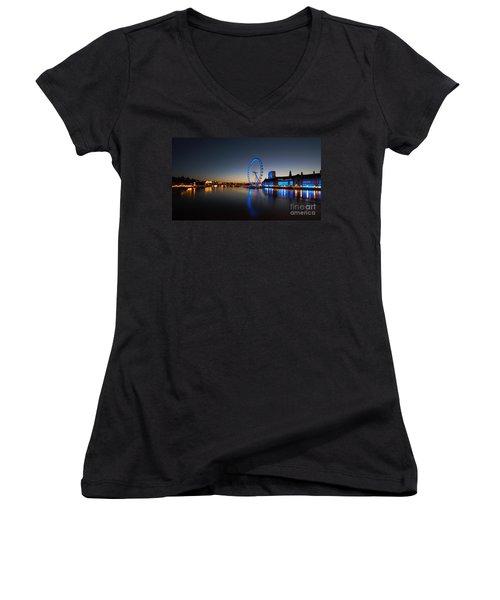 Women's V-Neck T-Shirt (Junior Cut) featuring the photograph London 1 by Mariusz Czajkowski