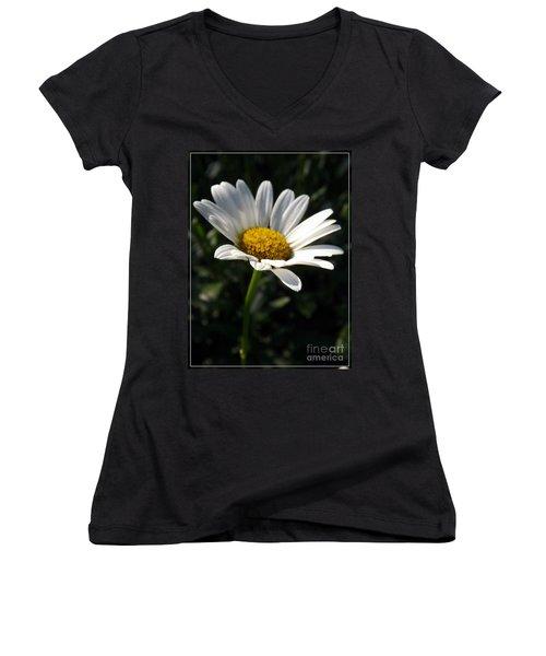 Lone Daisy Women's V-Neck T-Shirt (Junior Cut)