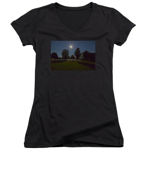 Night Shadows  Women's V-Neck T-Shirt