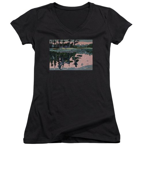 Long Reach Rain Women's V-Neck T-Shirt (Junior Cut)