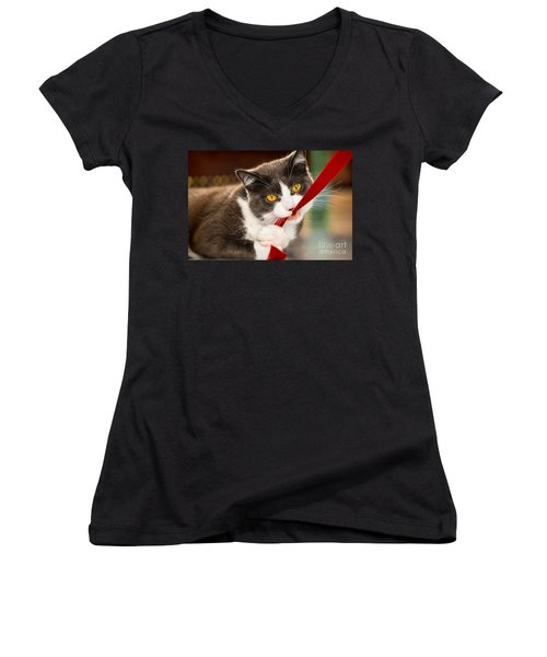 Look Into My Eyes Women's V-Neck T-Shirt