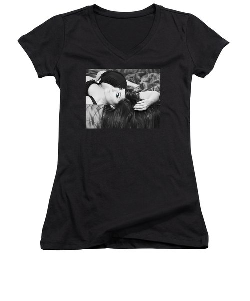 Look Into My Eyes Women's V-Neck T-Shirt
