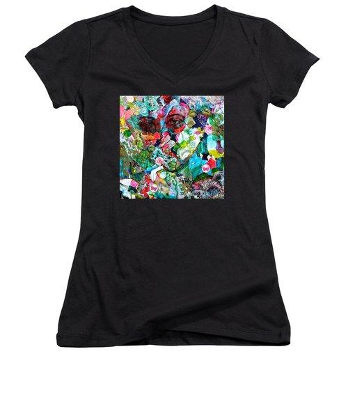 Looking Through Women's V-Neck T-Shirt (Junior Cut)