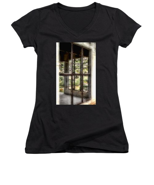 Looking Through The Window By Diana Sainz Women's V-Neck