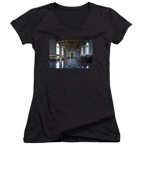 Los Angeles Union Station Original Ticket Lobby Women's V-Neck
