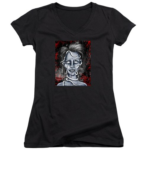 Lost Women's V-Neck T-Shirt (Junior Cut) by Shawna Rowe