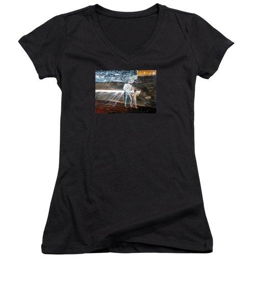Lost Sometimes Women's V-Neck T-Shirt (Junior Cut) by Lazaro Hurtado