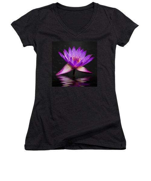 Lotus Women's V-Neck T-Shirt (Junior Cut) by Adam Romanowicz