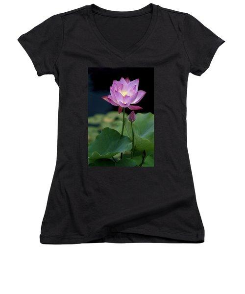 Lotus Blossom Women's V-Neck