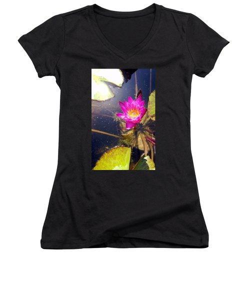 Lotus Day Women's V-Neck T-Shirt
