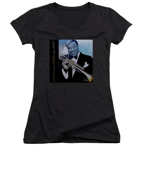 Louis Armstrong Women's V-Neck (Athletic Fit)