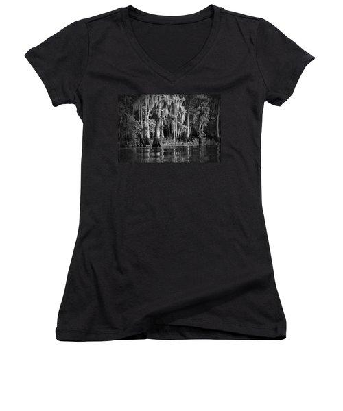 Louisiana Bayou Women's V-Neck T-Shirt (Junior Cut)