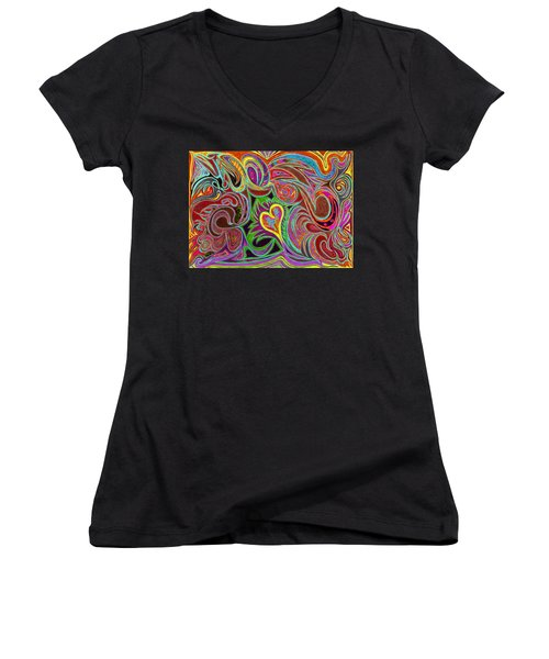 love in every shade of U v7 - love in every shade of blue Women's V-Neck