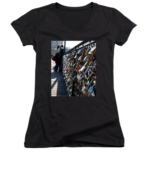 Love Locks Women's V-Neck (Athletic Fit)