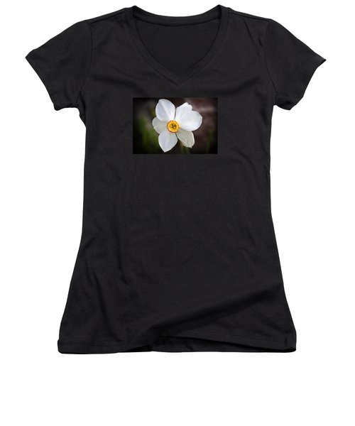 Love Smile And Happiness Women's V-Neck T-Shirt (Junior Cut) by Milena Ilieva