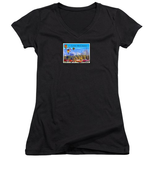 Lovin The Classics Women's V-Neck T-Shirt (Junior Cut) by Bobbee Rickard
