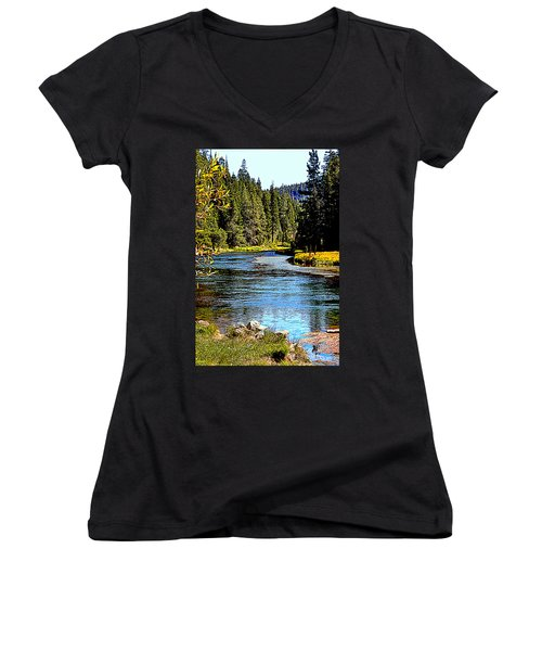 Lower Truckee River Women's V-Neck (Athletic Fit)