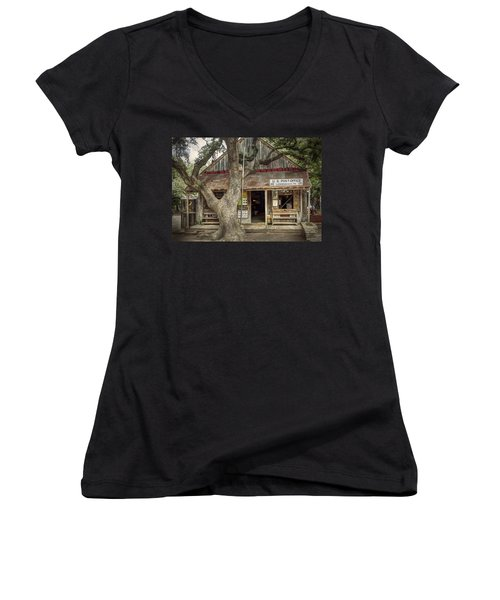 Luckenbach 2 Women's V-Neck (Athletic Fit)