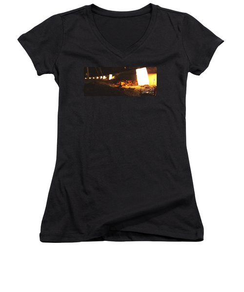 Women's V-Neck T-Shirt (Junior Cut) featuring the photograph Luminaries by Andrea Anderegg