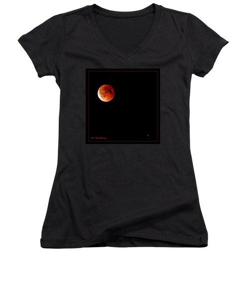 Lunar Eclipse April 15  2014 Women's V-Neck