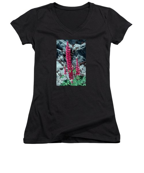 Lupine 1 Women's V-Neck T-Shirt (Junior Cut)