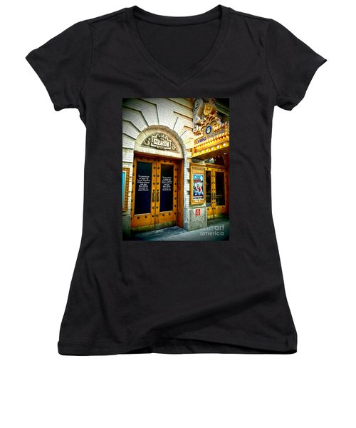 Lyric Theatre - Music Women's V-Neck (Athletic Fit)