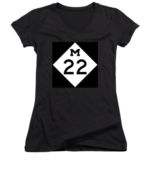M 22 Women's V-Neck (Athletic Fit)