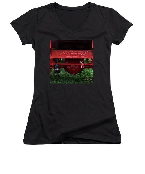 Mack Truck 1 Women's V-Neck (Athletic Fit)