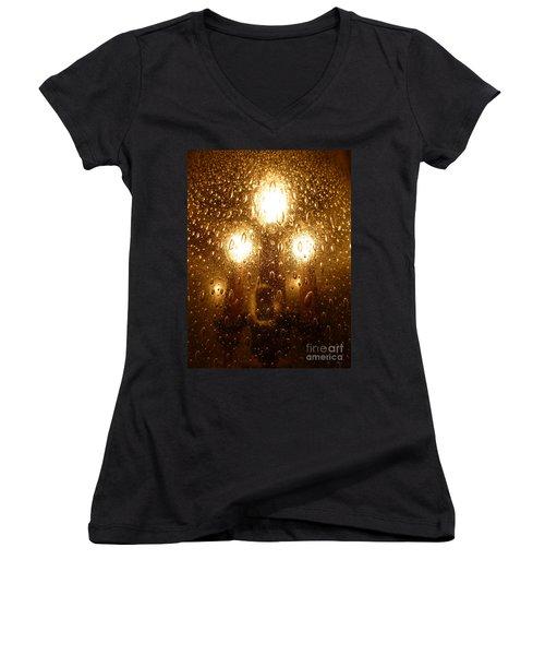 Macro Lights Women's V-Neck T-Shirt