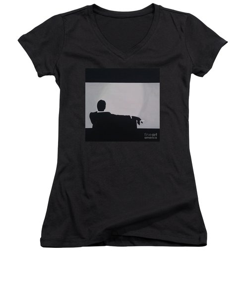 Mad Men In Silhouette Women's V-Neck (Athletic Fit)