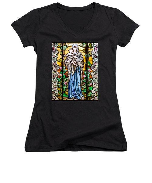 Madonna And Child Women's V-Neck T-Shirt
