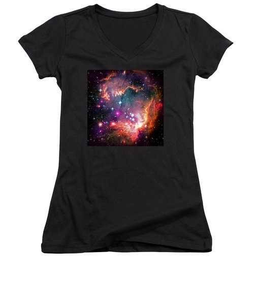 Magellanic Cloud 2 Women's V-Neck T-Shirt