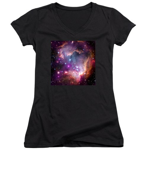 Magellanic Cloud 3 Women's V-Neck T-Shirt