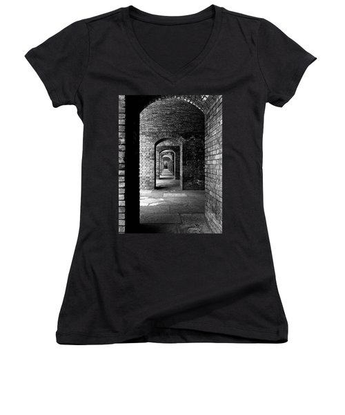 Magic Portal Women's V-Neck T-Shirt (Junior Cut) by Robert McCubbin