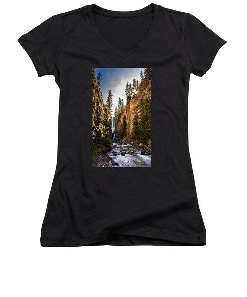 Magnificent  Mystic Falls  Women's V-Neck T-Shirt (Junior Cut) by Steven Reed