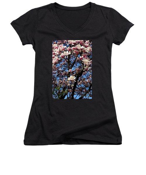 Magnolias Women's V-Neck
