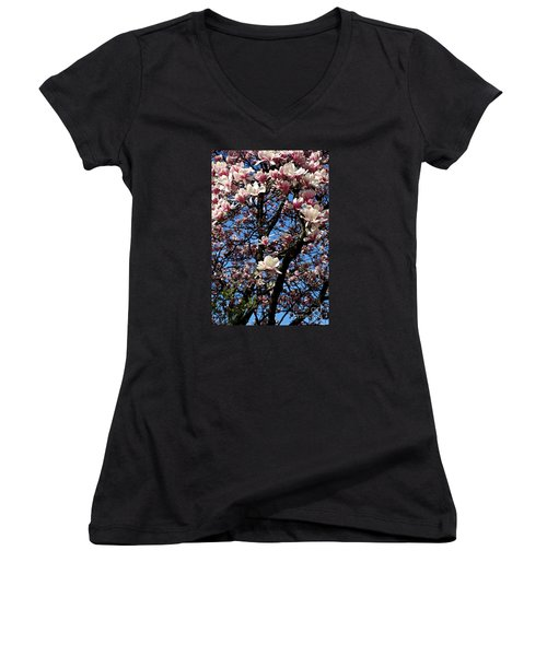 Magnolias Women's V-Neck